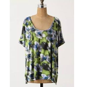 Anthropologie S Floral Behind the Waterfall Top